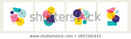 funny vector characters   set of four elements stock photo © natali_brill