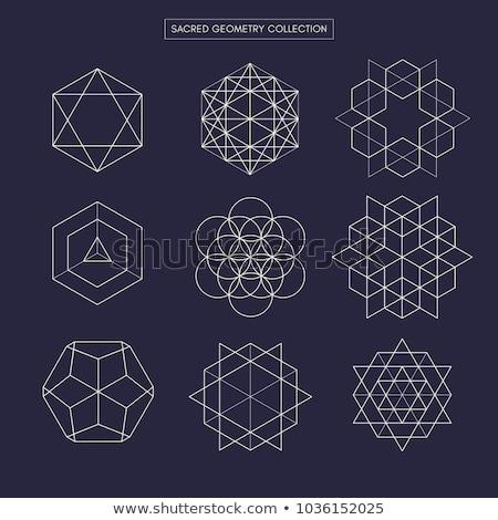 Sacré géométrique lignes résumé carte Photo stock © SArts