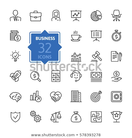 Justice - line design icons set Stock photo © Decorwithme