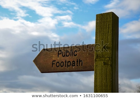 Public footpath sign in England Stock photo © Hofmeester