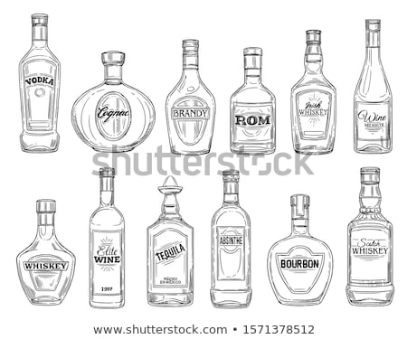 glass bottle sketch icon stock photo © rastudio