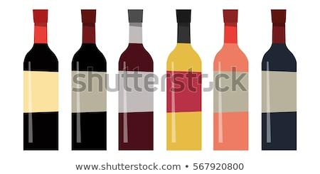 セット ワイン ボトル 孤立した 異なる デザイン ストックフォト © Nadiinko