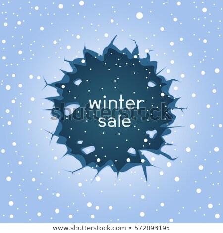 Ijs spleet winter verkoop groot Blauw Stockfoto © romvo