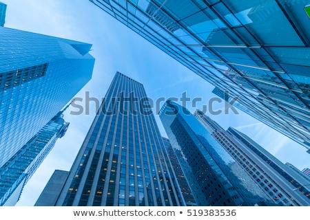 New York skyscrapers vew from street level Stock photo © Elnur