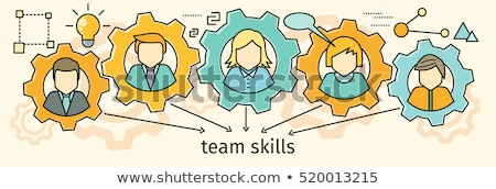 Team Skills Banner. Avatar in Gear. Stock photo © robuart