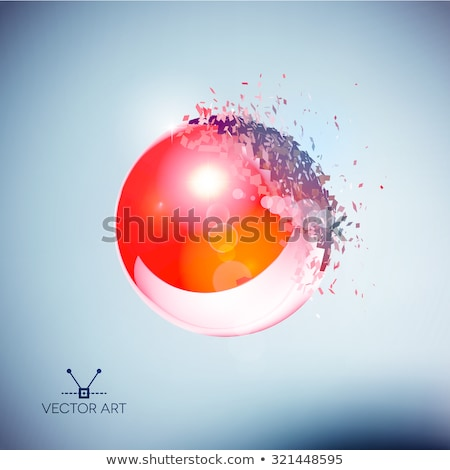 Red 3D ball exploded into pieces Stock photo © SwillSkill