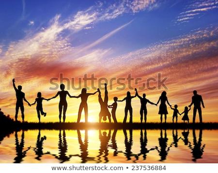 senior friends holding hands stock photo © wavebreak_media