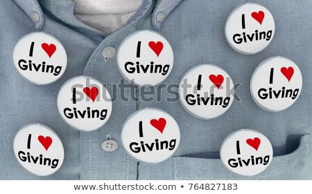 charity button 3d stock photo © tashatuvango