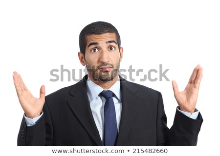 Confused muslim businessman shrugging shoulders. Stock photo © RAStudio