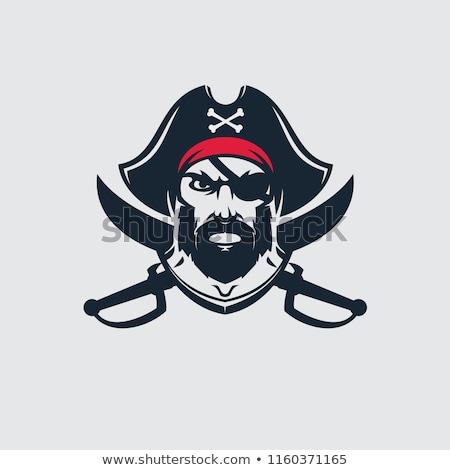 Pirata logo testa simbolo vettore Foto d'archivio © popaukropa