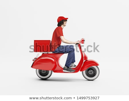 Delivery scooter Stock photo © carbouval