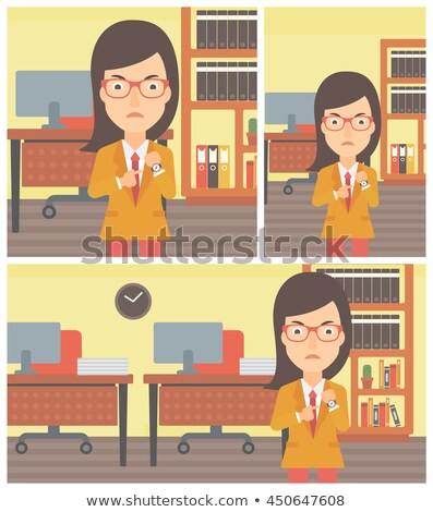 сердиться деловой женщины указывая Постоянный служба Сток-фото © RAStudio