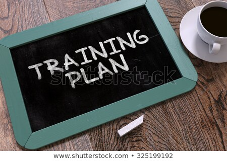 hand drawn time to plan concept on small chalkboard stock photo © tashatuvango