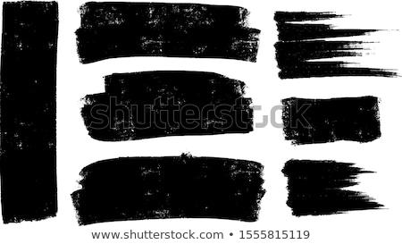 手描き ペイントブラシ テクスチャ ベクトル 黒 芸術的 ストックフォト © TRIKONA