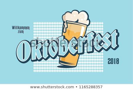 oktoberfest · cerveza · barril · barril · salchichas · aperitivos - foto stock © popaukropa