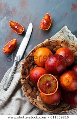 Soczysty plaster pomarańczowy pomarańczy ścieżka czarny Zdjęcia stock © grafvision