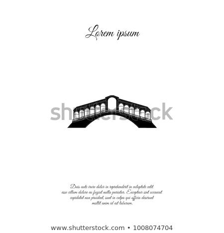 Venecia ciudad signo turísticos veneciano transporte Foto stock © Terriana