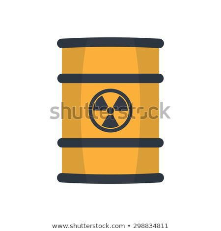 Radioactive toxic barrel vector illustration. Stock photo © RAStudio