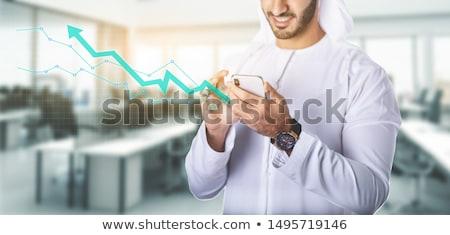 arabisch · zakenman · business · diagram · kleding · tonen - stockfoto © studioworkstock