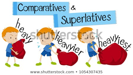English word for heavy in comparative and superlative forms Stock photo © bluering
