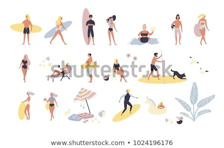 загрузка · пляж · рыбак · лодка · Балтийское · море - Сток-фото © is2