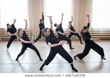 Balerin ayakta stüdyo kız çocuk eğitim Stok fotoğraf © IS2