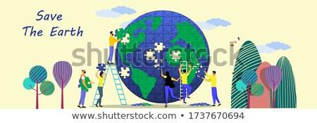 Terra illustrazione abstract sfondo palla Foto d'archivio © get4net
