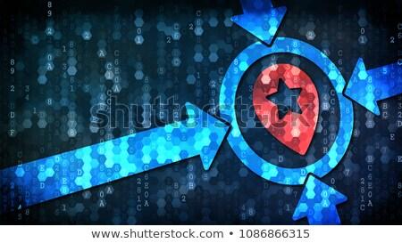 Célzás sötét digitális piros felirat copy space Stock fotó © tashatuvango