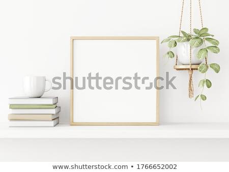 квадратный · кадр · прозрачный · бумаги · белый · искусства - Сток-фото © kostins