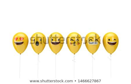 Jaune ballons mascotte dessinée personnage expressions vecteur Photo stock © hittoon