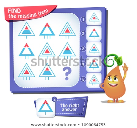 Find the missing item triangle iq Stock photo © Olena