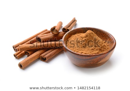 Fresh aromatic cinnamon with powder spice Stock photo © bdspn