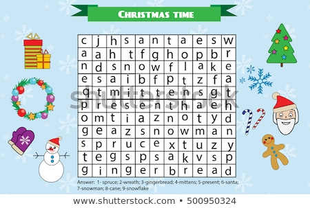 Trees themed word search puzzle Stock photo © Natali_Brill