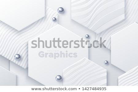 Soyut vektör geometrik beyaz renkli boncuk Stok fotoğraf © Iaroslava