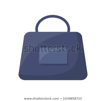 Klasszikus bőr női táska kényelmes fogantyú Stock fotó © robuart