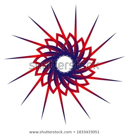 曼陀羅 · 対称の · 飾り · 装飾的な · パターン · 黒白 - ストックフォト © essl