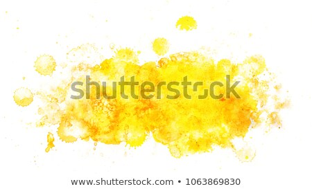 Zdjęcia stock: Abstract Yellow Hand Painter Watercolor Texture