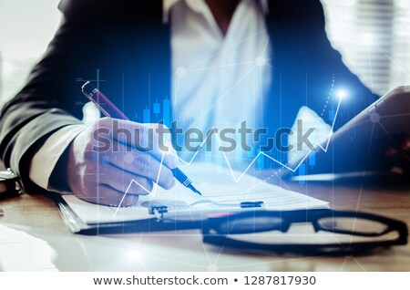 Finance, business, plan, work, growth, economy, paperwork, consultant. Analysis concept. Auditing ta Stock photo © makyzz