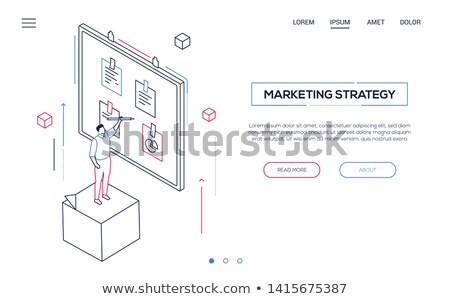research concept   modern isometric vector web banner stock photo © decorwithme