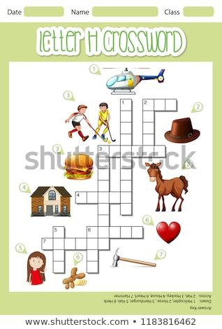 H betű keresztrejtvény sablon illusztráció művészet levél Stock fotó © bluering