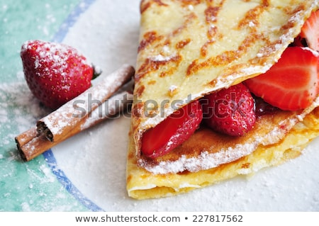 Delicious breakfast food composition Stock photo © dash