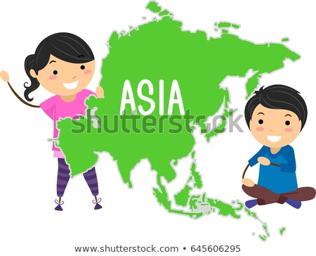 Enfants continent Asie illustration asian Photo stock © lenm