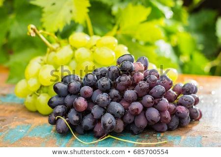 świeże organiczny winogron puchar żółty żywności Zdjęcia stock © YuliyaGontar