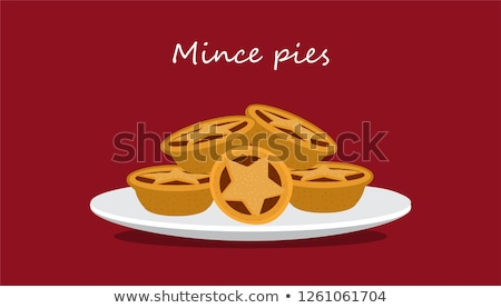 Mince pies  - traditional Christmas pastry Stock photo © Alex9500