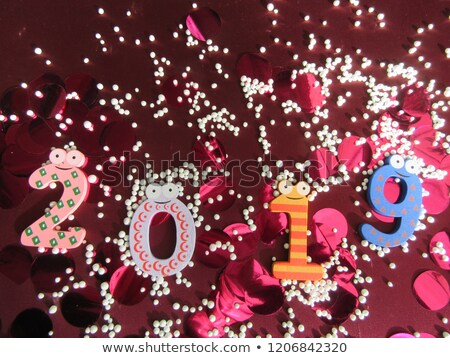 веселый Рождества с Новым годом милые животные характер счастливым Сток-фото © ori-artiste
