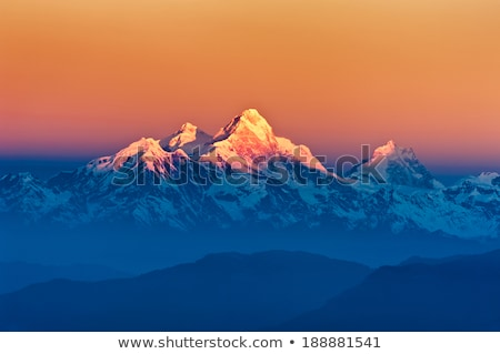 Mt Everest Sunset Stock photo © THP