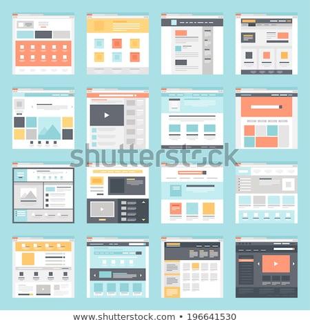 web · page · icône · applications · isolé · modernes - photo stock © kyryloff