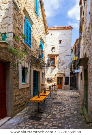 UNESCO Town of Trogir historic architecture view Stock photo © xbrchx