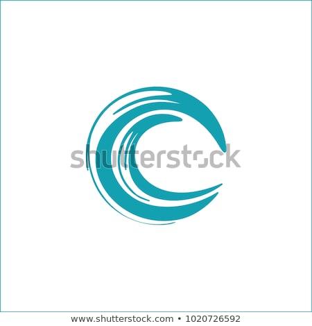 письме · логотип · воды · волна · синий · икона - Сток-фото © blaskorizov