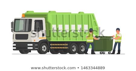 Garbage raccolta rifiuti metal alluminio Foto d'archivio © robuart